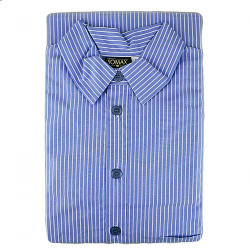 Nightshirt  - Luxury Lawn Cotton From Ireland - Royal Blue